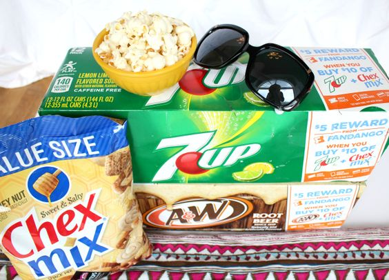 Who wants a FREE movie ticket? It's easy to earn them when you buy participating 7UP® and Chex Mix® products at Walmart!  Spend $10, Earn $10 http://freebies4mom.com/moreflavor/ ad