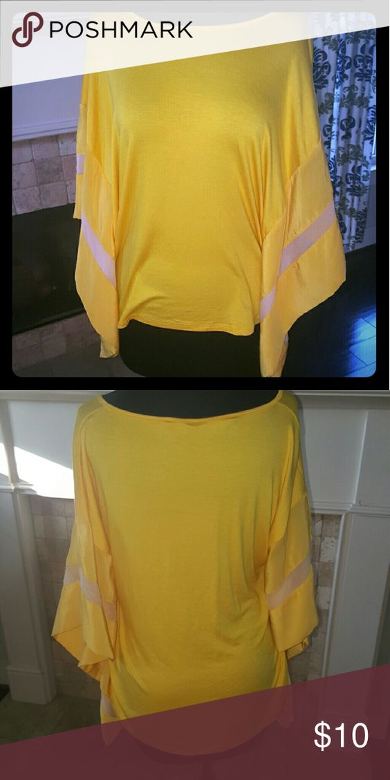 Yellow batwing top xs Super soft bright yellow perfect in every way xs Tops Tees - Short Sleeve