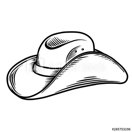 Illustration Of Cowboy Hat Isolated On White Background Design Element For Poster Card Banner Sign Emblem In 2021 Cowboy Hats Vector Illustration Design Element