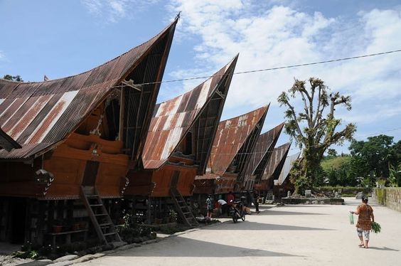 Lake Toba, traditional Batak village, Pulau Samosir, Sumatra, Indonesia, Toba-See, traditionelles Batak-Dorf, Indonesien, Danau Toba