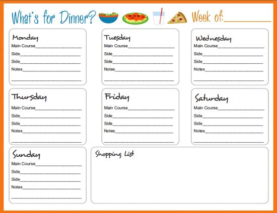30 Family Meal Planning Templates {weekly, monthly, budget} Home - meal plans