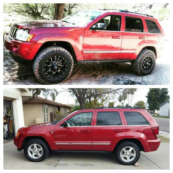 jeep grand cherokee wk 3 5 lift 265 70 18 before and after jeep grand cherokee wk chile rojo. Black Bedroom Furniture Sets. Home Design Ideas