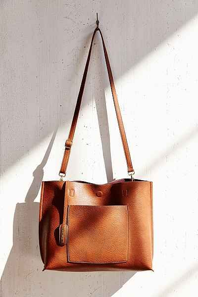 Reversible Vegan Leather Oversized Tote Bag - Urban Outfitters. maybe in a darker color . . .