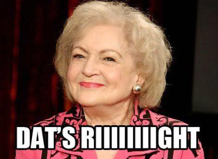 Happy birthday, Betty White! :)