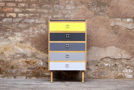 Semainier commode relook 5 tiroirs relooking meubles - Vieux meuble a retaper ...