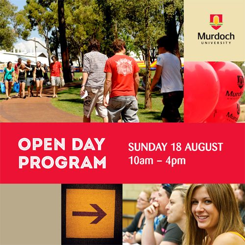 In #Perth Sunday 18 August 2013? See first hand why people from all over the world come to Murdoch. #openday #study