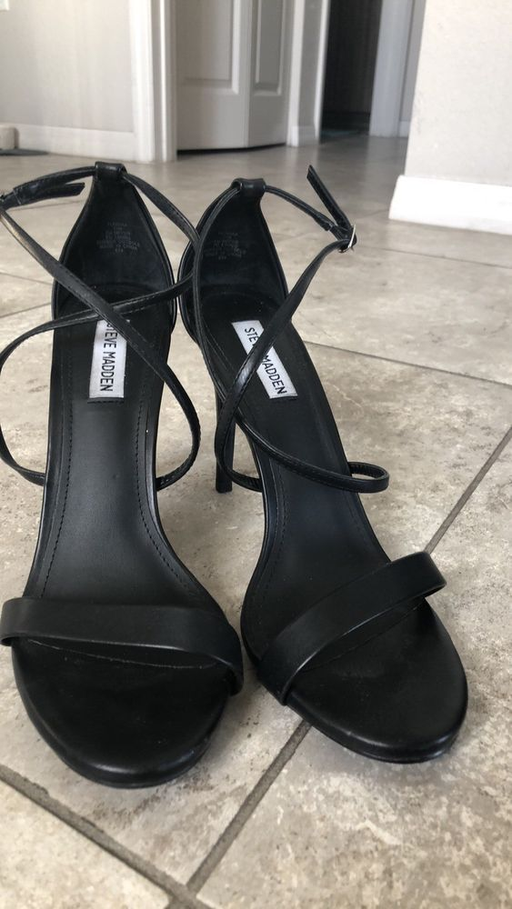 Steve Madden Strappy High Heel Sandals Size 11 Fashion Clothing Shoes Accessories Womensshoes Heels Ebay Strappy High Heels Sandals Sandals Heels Heels