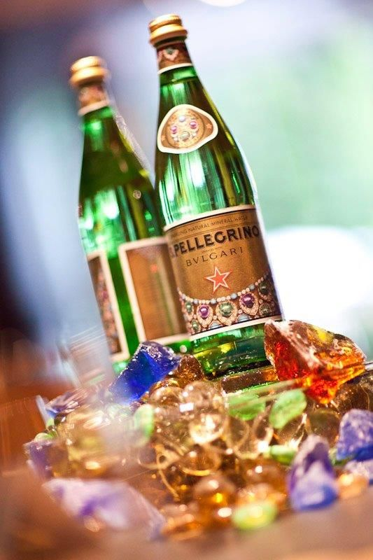 """2011 - """"S.Pellegrino meets Italian Talents"""" with Bulgari, launching for the occasion a limited edition bottle that reflects the precious jewelry"""