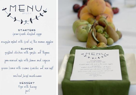 dinner party menu templates free download
