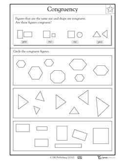 Printables Similar Shapes Worksheet Grade 4 congruent shapes worksheets woodleyshailene pinterest the world 39 s catalog of ideas math practice worksheet grade