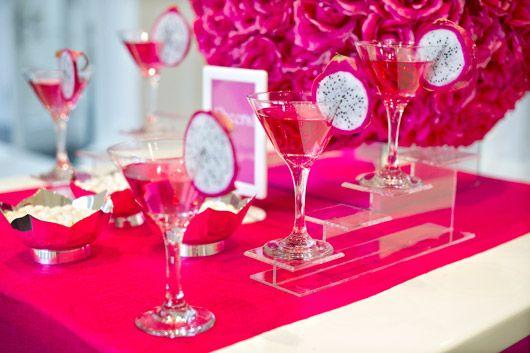 foto de decoração de festa 15 anos rosa