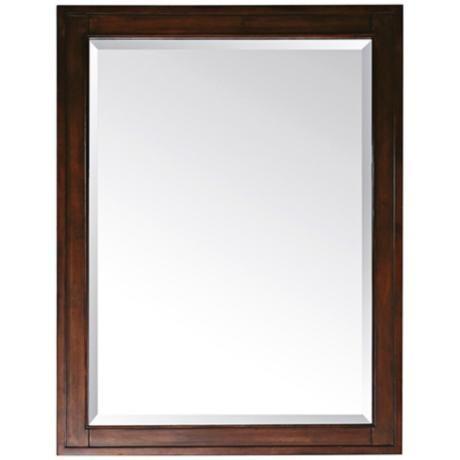 "Madison Light Espresso 28"" Wide Rectangular Wall Mirror"