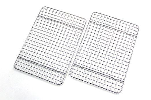 Checkered Chef Cooling Racks For Baking Quarter Size Stainless Steel Cooling Rack Baking Rack Set Of 2 Oven Saf Cooling Racks Countertop Oven Oven Safe