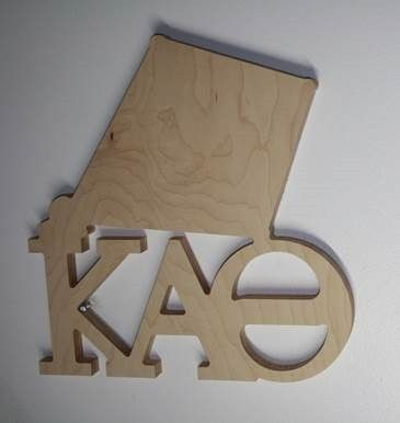 Symbol with Letters Plaque Kappa Alpha Theta