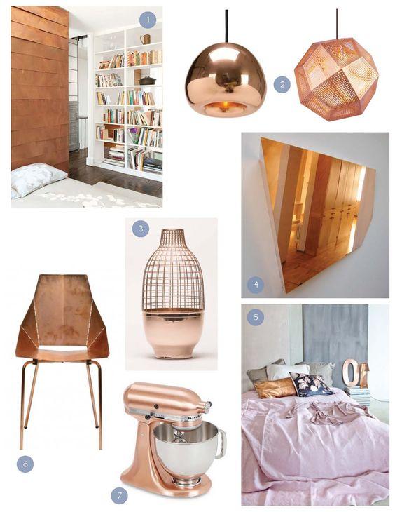 Elementos de #cobre en la decoración.