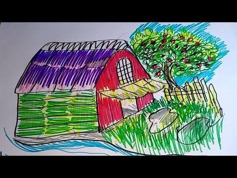 Cara Menggambar Rumah Untuk Pemula Youtube Cara Menggambar Gambar Rumah
