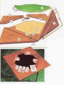 Ah! E se falando em madeira...: Projeto de Mesa reversivel