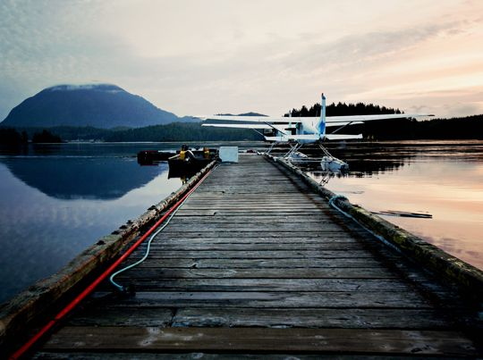 Tofino, BC.  take a seaplane to get where you want to go.