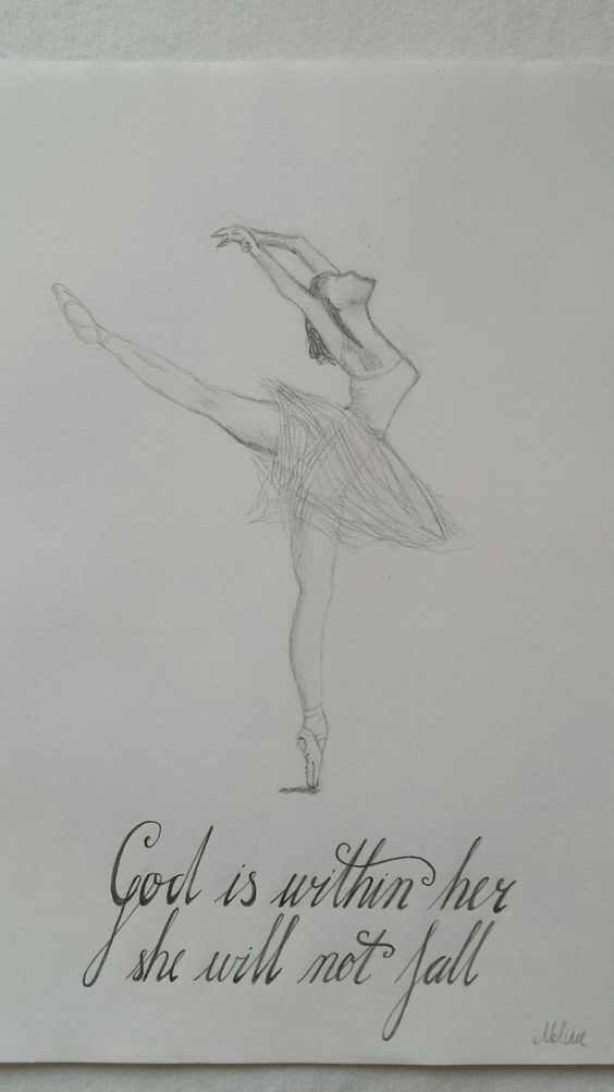 psalms#dancing#ballerina#pencildrawing#Handlettering