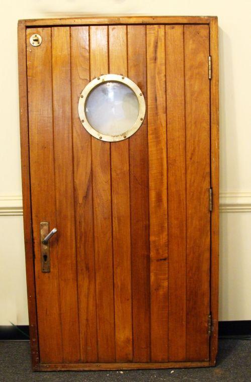 Authentic Teak Ship S Door In Frame Make Window Into Trash Chute Teak Doors Porthole Window