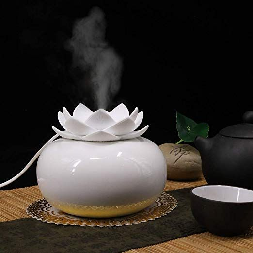 Amazonsmile Yjy Flower Essential Oil Diffuser Decorative Aromatherapy Diffuser Essential Oil Diffuser Essential Oil Diffuser Humidifier Aroma Essential Oil