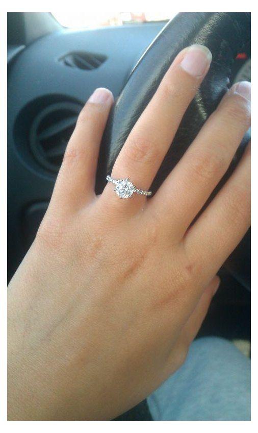1ct Round Engagement Ring Beautiful 1ct Round 6 Prong 2mm Pave Pink Morganite Engagement Ring Rose Gold Engagement Ring Rose Engagement Ring