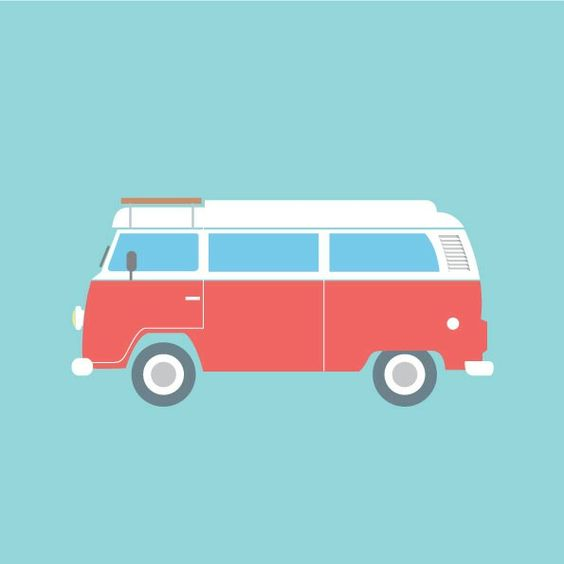 Handmade VW Camper Greeting / Birthday Card | VW Camper and VW ...