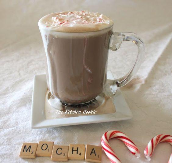 TheKitchenCookie: Chocolate Mocha Latte with Peppermint Cream