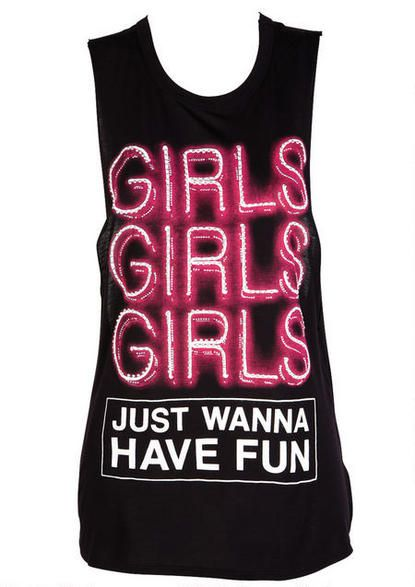 Girls Just Wanna Have Fun Tank - View All Tops - Tops - Clothing - Alloy Apparel
