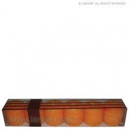 """Laroom - Vela """"Naranja"""" 35gr.Votive 6pcs 3,75x3,75cm - Laroom diseña y fabrica las velas aromáticas más bonitas del mundo, con la mejor selección de aromas naturales - www.laroom.com"""