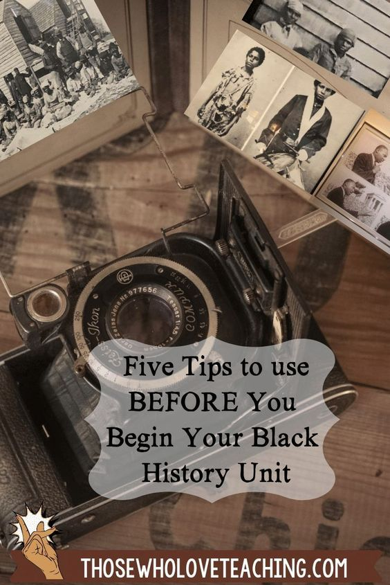 Five tips to help you plan your African American history month unit. Teach facts for kids and avoid misconceptions.  Black history month is a time to learn about heroes of the abolitionist and civil rights movements.  From Harriet Tubman, Frederick Dougla