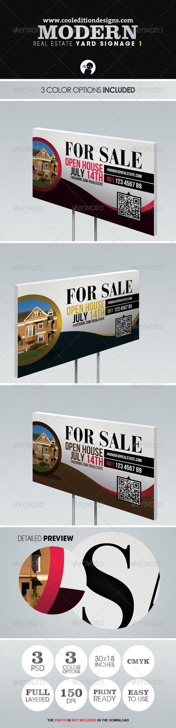 modern real estate yard signage 1 signage real estate and yards modern real estate yard signage 1 graphicriver item for