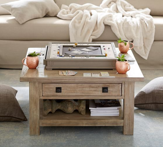 Benchwright Square Coffee Table Seadrift Potterybarn Coffee Table Square Coffee Table Reclaimed Wood Coffee Table