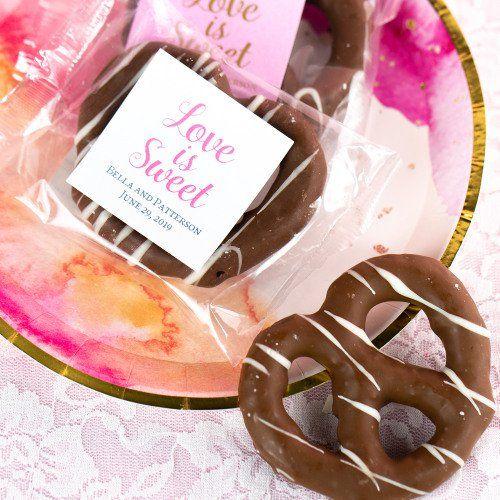 Wedding Party Personalised Belgian Chocolate star lollipop