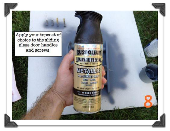 How to properly spray paint metal hardware for a lasting for How to spray paint doors