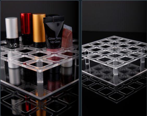 100%Handmade in Korea Acrylic 25 compartment Lipsticks ORGANIZER Display Holder -US $19.70