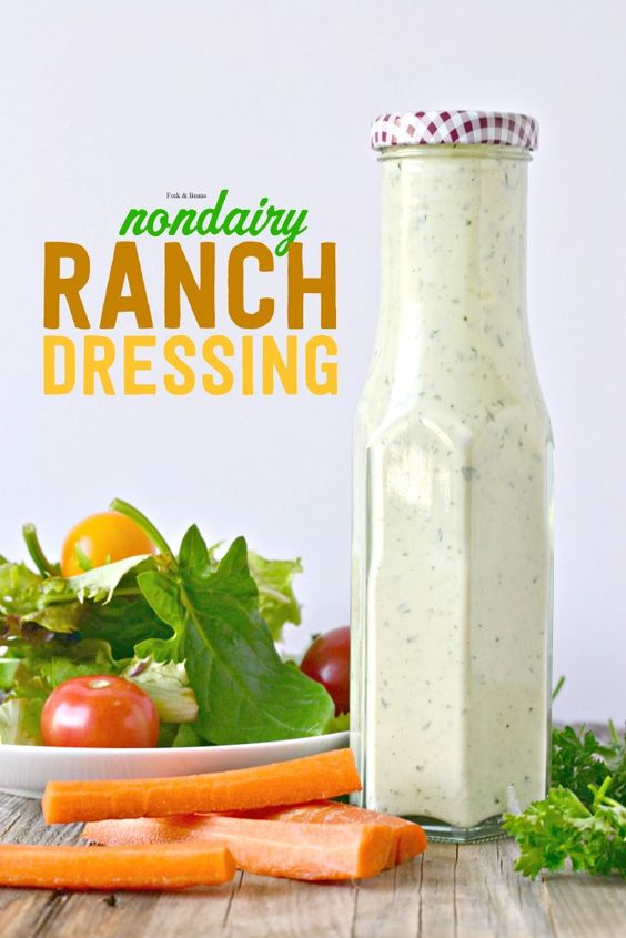 By using cashews, you get such a creamy, vegan alternative to Ranch Dressing.