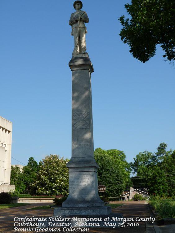 Confederate Soldiers Monument Decatur Al Historic