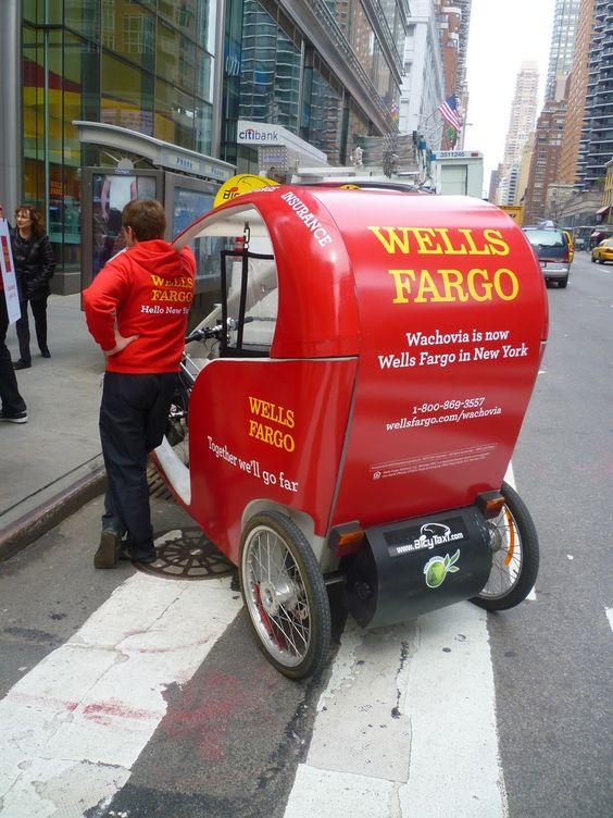 Mini Wells Fargo clogging up,the streets of New York