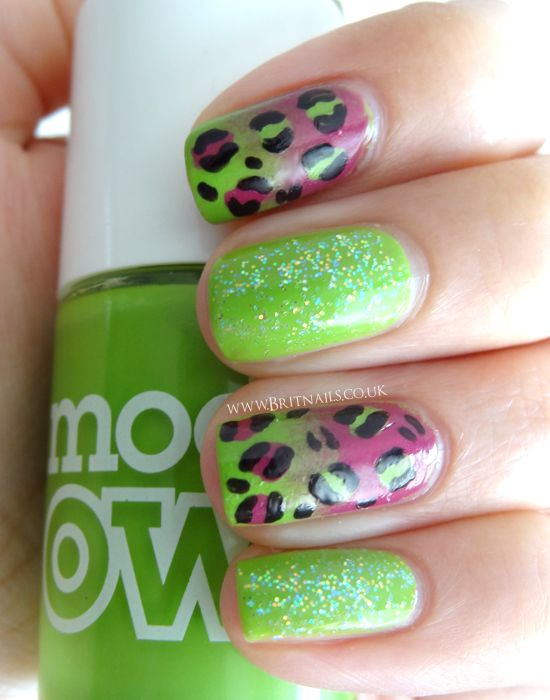 Pink and Lime Leopard Sparkle