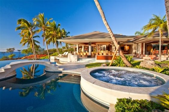 Mansion in hawaii great pool wish that homes for Great pool houses