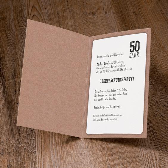 Lustige Einladungskarte Prost Aus Naturkarton Mit Glas Applikationen Einladungskarten Einladungen Karten