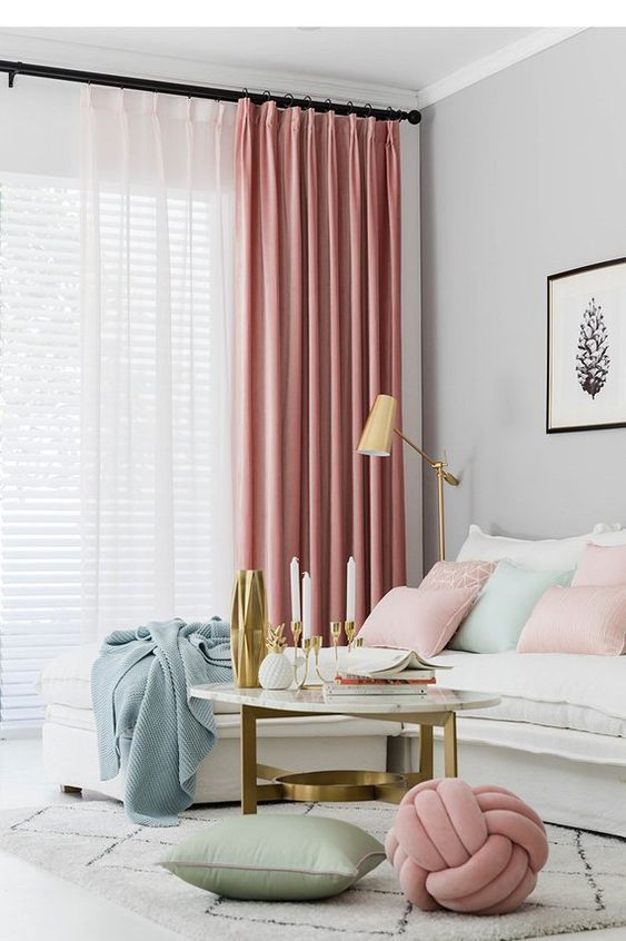 Tender Shell Custom Size Curtains Dusty Pink In 2020 Pink