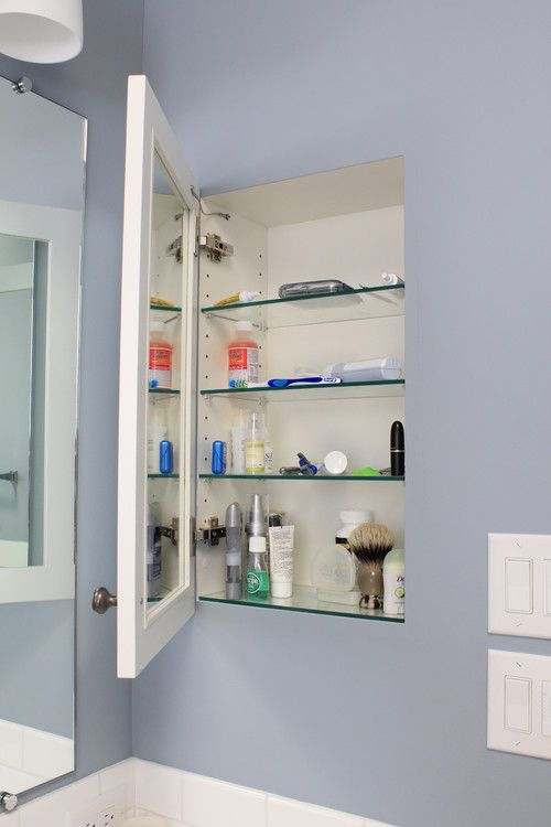 Extra Deep Medicine Cabinet Looks Like It S A Drywall Niche With