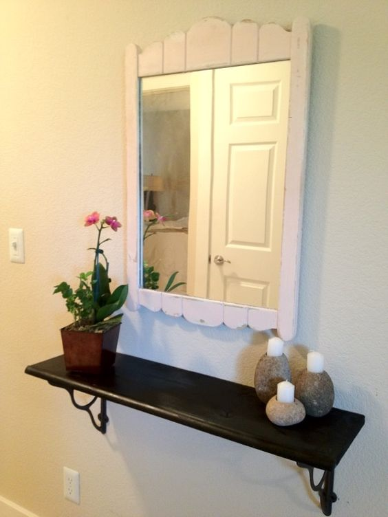 Diy Small Foyer : Diy floating shelf in small foyer projects for the home