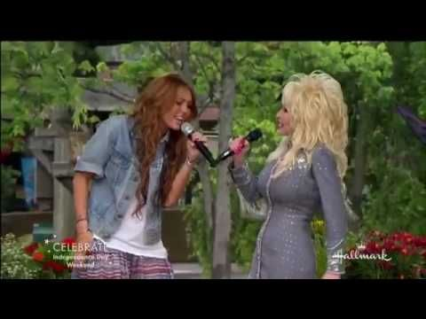 Jolene - originally sung by Dolly Parton, but in this version she's joined by Miley Cyrus! It's awesome!