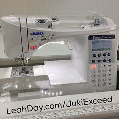 Learn about the Juki Exceed F400 - a small home sewing machine that has many wonderful features for quilters. Find a video review here: http://leahday.com/pages/sewing-machine-review-juki-exceed-f400