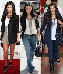 three different looks with boyfriend jacket
