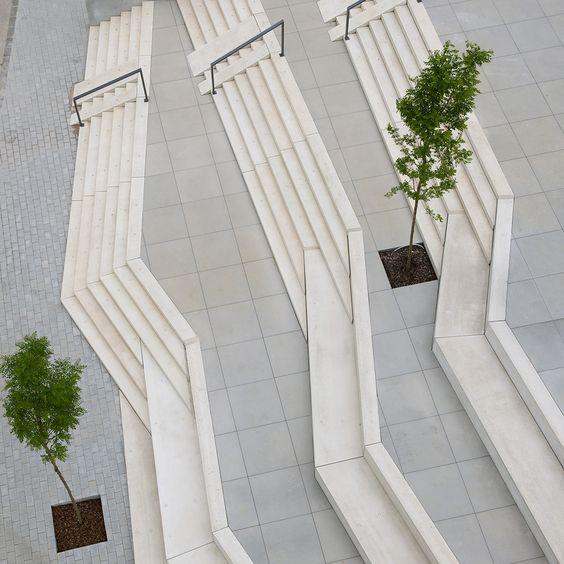 Treppe und Sitzstufen, © Jan Kraege, Kö Architecture Pinterest - nolte k che lago