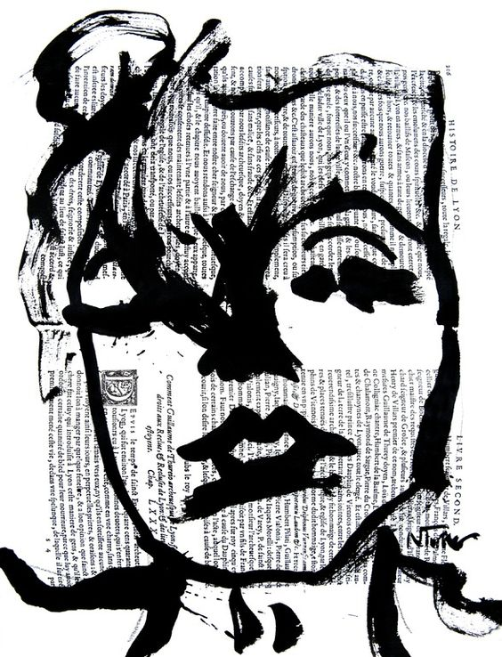 """Saatchi Online Artist: Neal Turner; Ink, 2013, Painting """"Marilyn Monroe"""""""